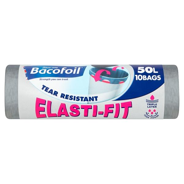 Bacofoil 50l Elasti-Fit Bin Bags