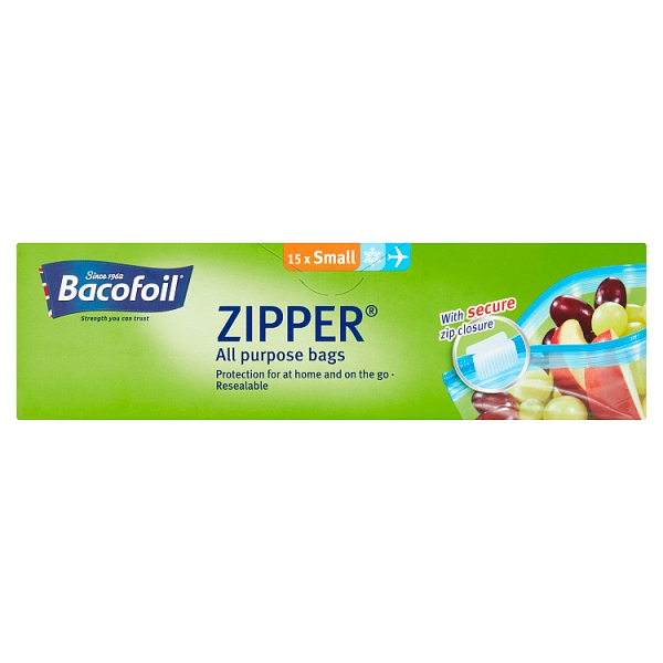 Bacofoil Small Zipper Bags 15 Pack