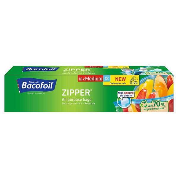 Bacofoil Medium Zipper Food Bags 12 Pack