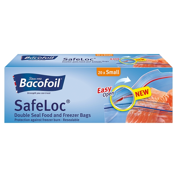 Bacofoil Safeloc Small Food & Freezer Bags 20 Pack