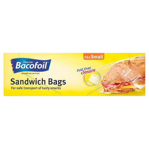 Bacofoil Small Sandwich Bags 50 Pack