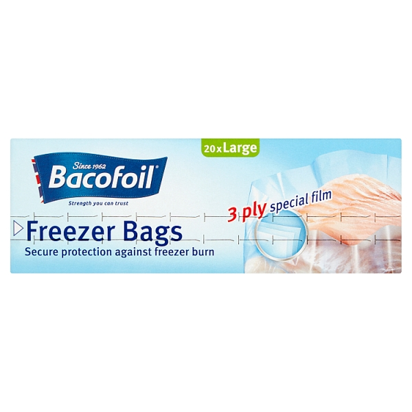 Bacofoil Large Freezer Bags 20 Pack