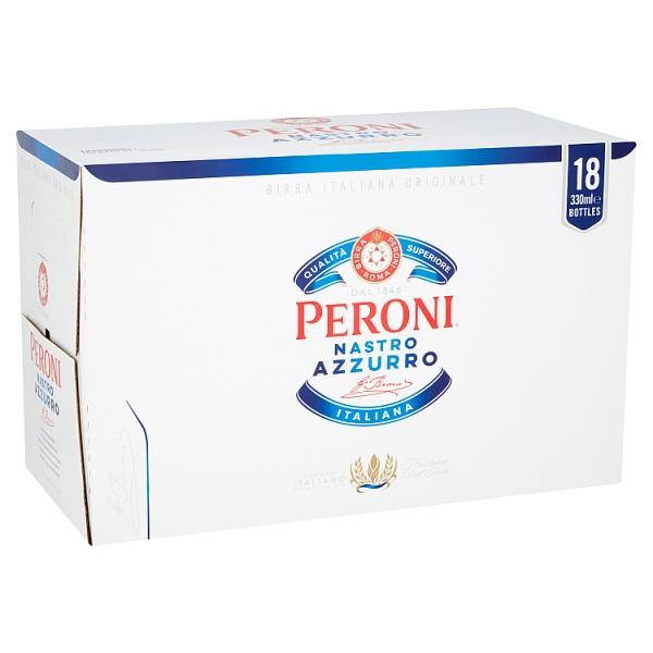Peroni Nastro Azzurro Beer Bottles 18 Pack