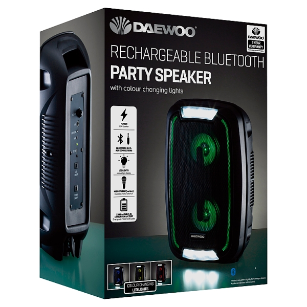 Daewoo Led Bluetooth Party Speaker
