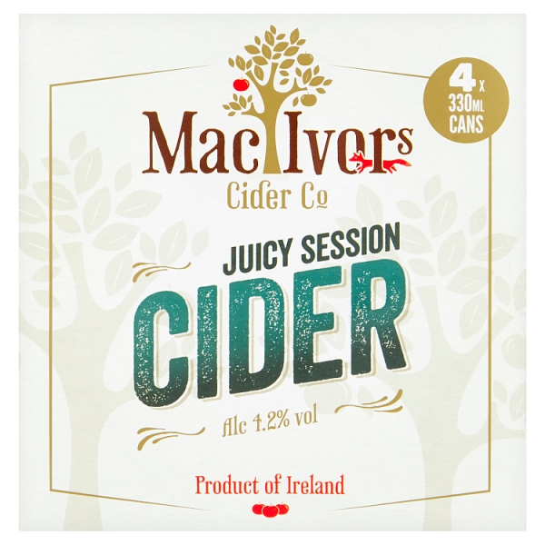 Macivors Juicy Session Cider Can 4pk