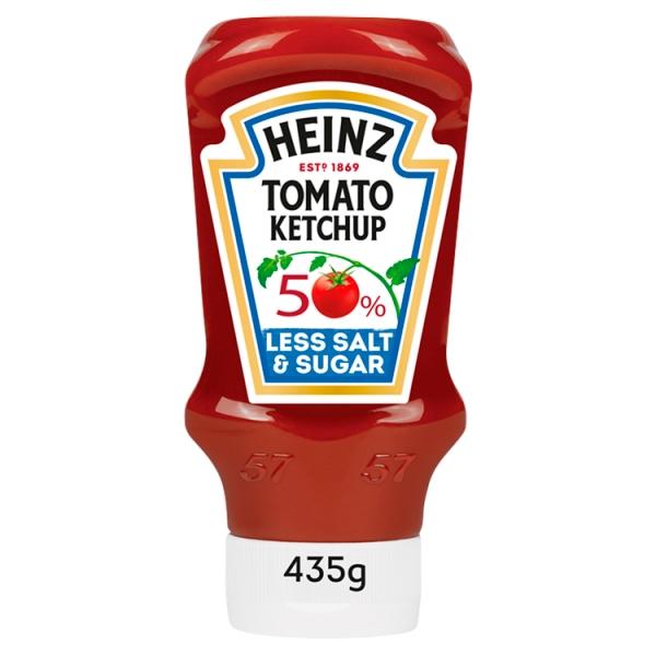 Heinz Ketchup 50% Less Sugar & Salt
