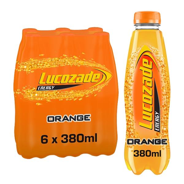 Lucozade Energy Orange Bottles 6 Pack