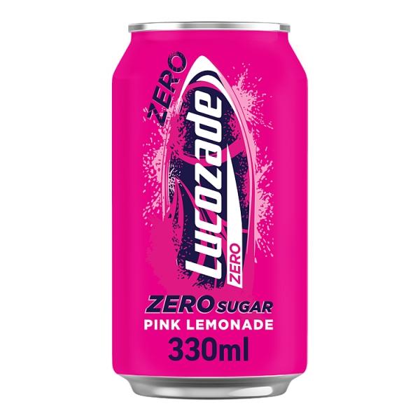 Lucozade Zero Pink Lemonade Can