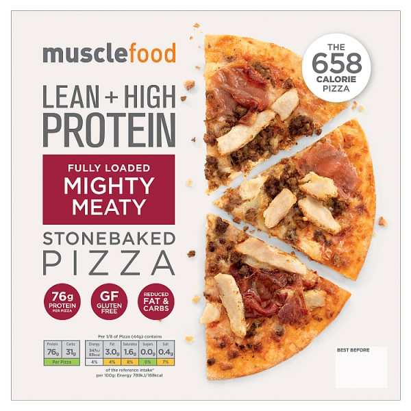Musclefood Mighty Meaty High Protein Pizza 350 Grams