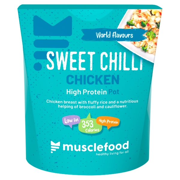 Musclefood Sweet Chilli Chicken Rice Pot (350 Grams)