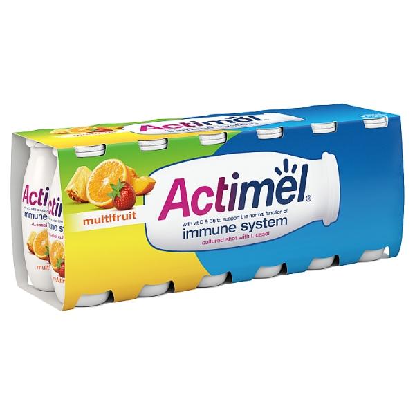 Danone Actimel Multifruit Yogurt Drink 12 Pack