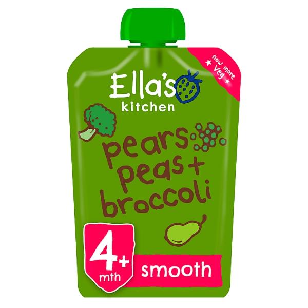 Ella's Kitchen Pears, Peas & Brocolli 4+ Months