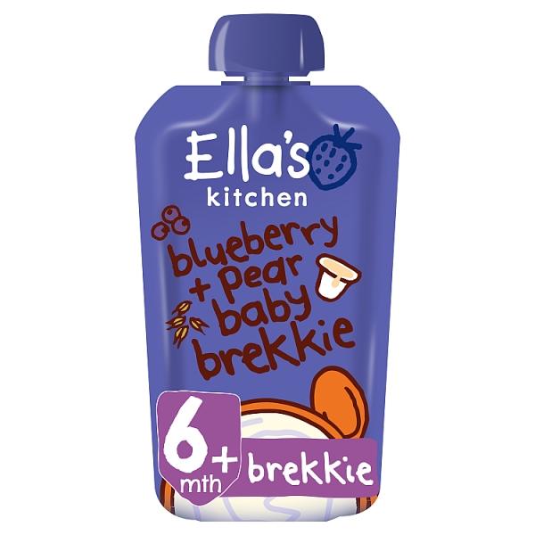 Ella's Kitchen Blueberry & Pear Baby Brekkie 6+ Months