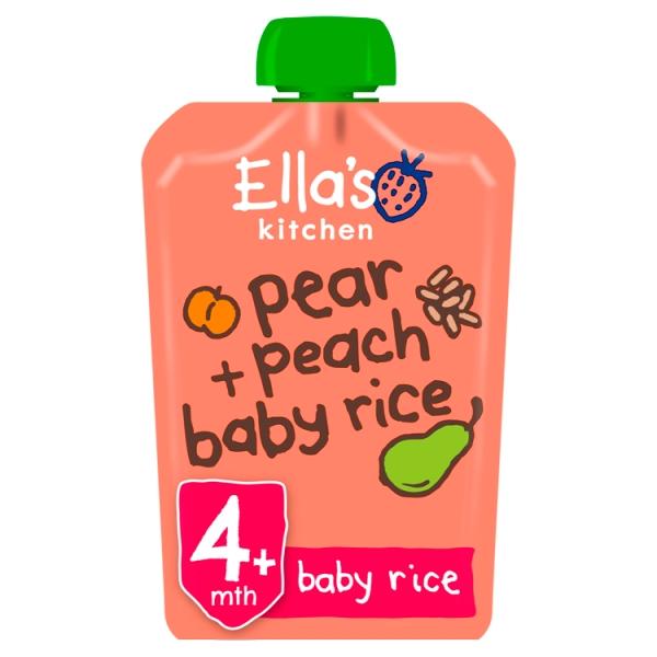 Ella's Kitchen Pear & Peach Baby Rice 4+ Months