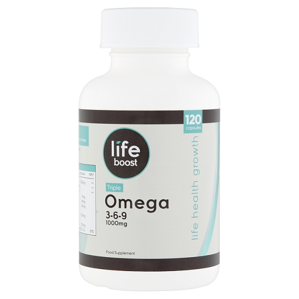 Lifeboost Omega 3 6 9 1000mg Caps 120 Piece