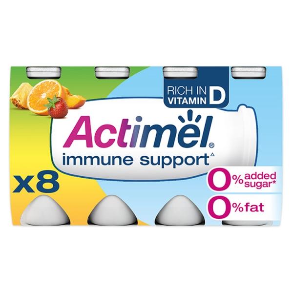 Danone Actimel 0% Multifruit Yogurt Drink 8 Pack