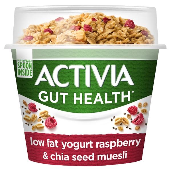 Activia Low Fat Yogurt Raspberry & Chia Seed Muesli