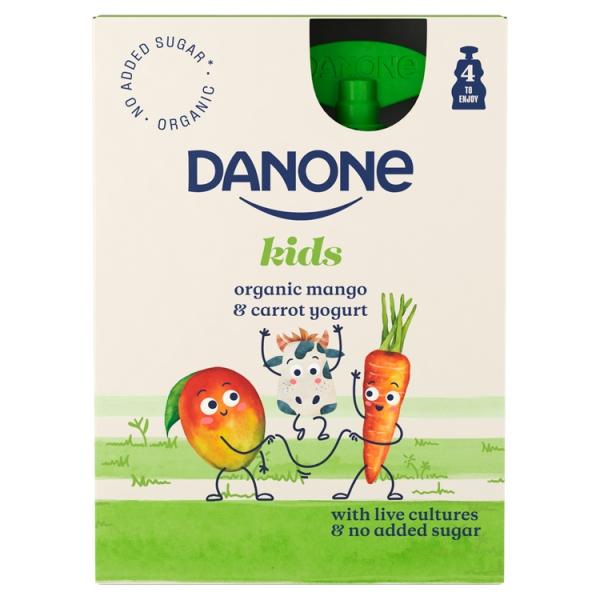 Danone Brand Kids Pouch Mango Carrot 4 Pack