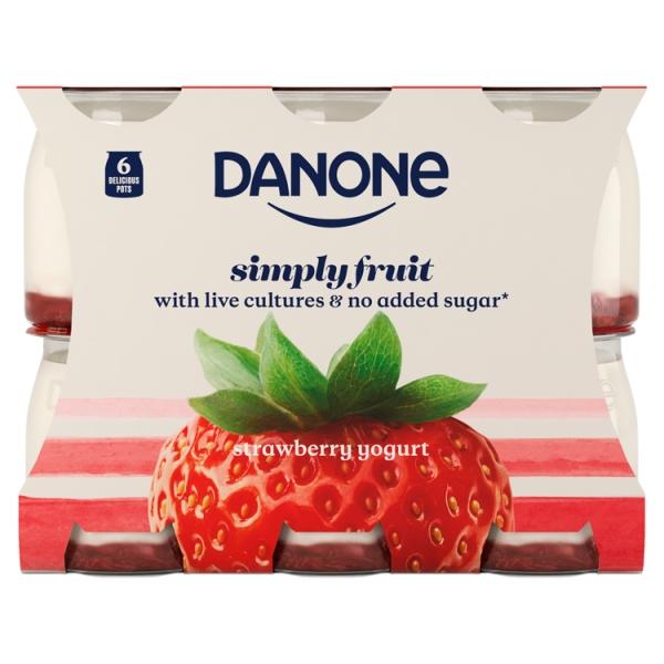 Danone Multipack Strawberry 6 Pack