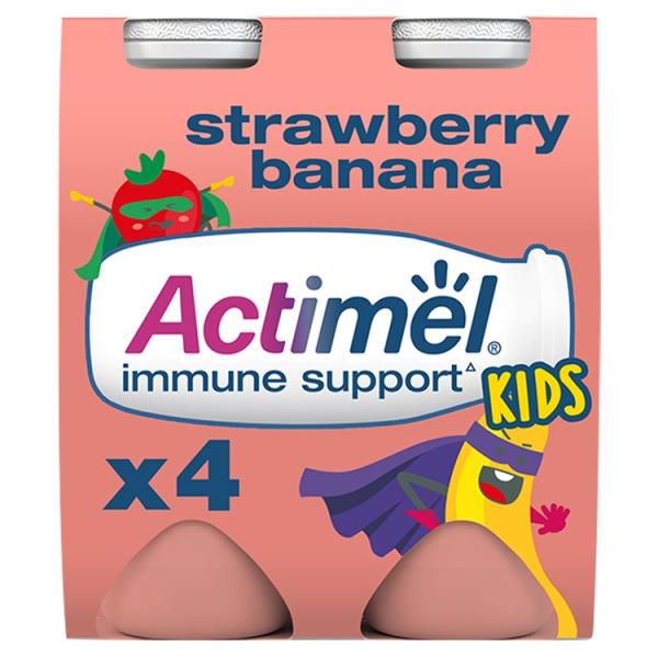 Danone Actimel For Kids Strawberry Banana 4 Pack