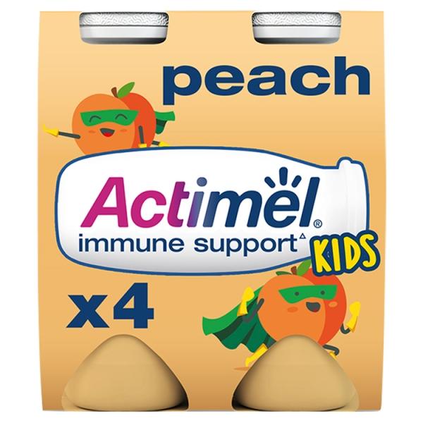 Danone Actimel For Kids Peach 4 Pack