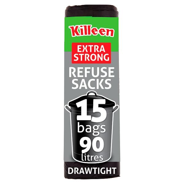 Killeen 90l Extra Strong Drawtight Refuse Sacks