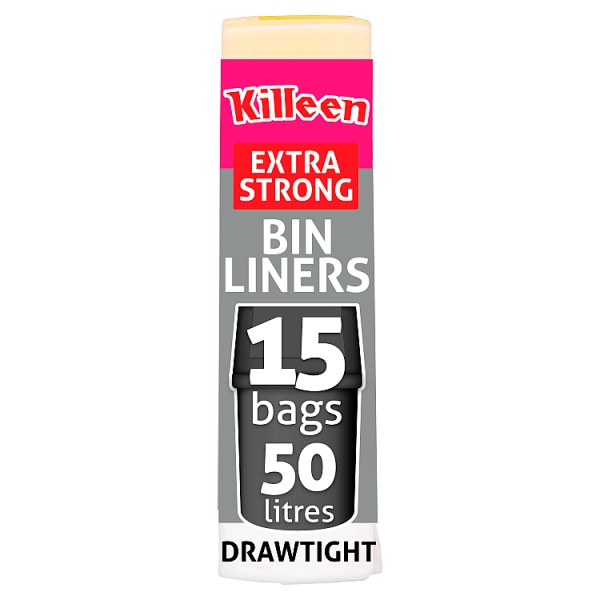 Killeen 50l Extra Strong Draw Tight Bin Bags