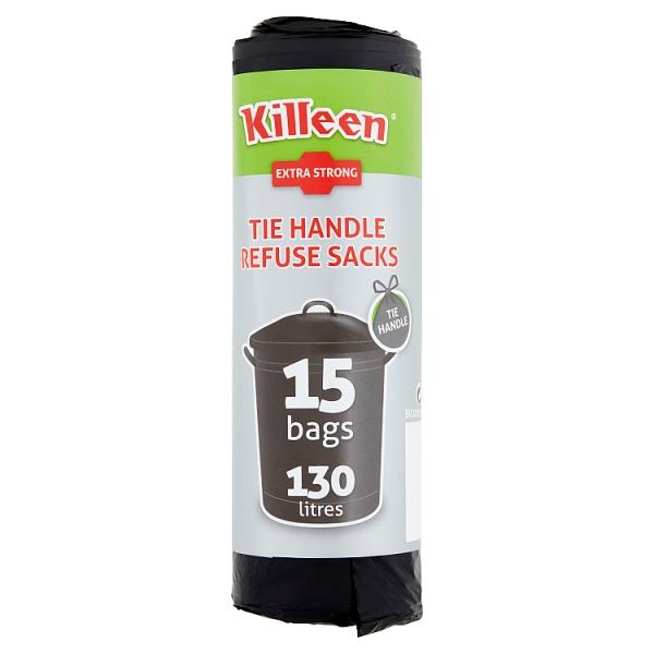 Kileen 130l Extra Strong Tie Handle Refuse Sacks