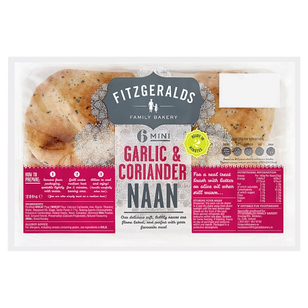 Country Kitchen Mini Naan Bread Garlic & Coriander