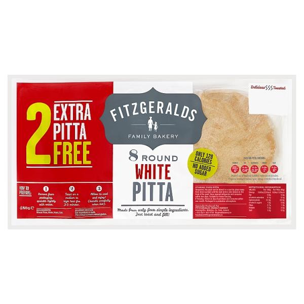 Fitzgeralds Round White Pittas 10 Pack