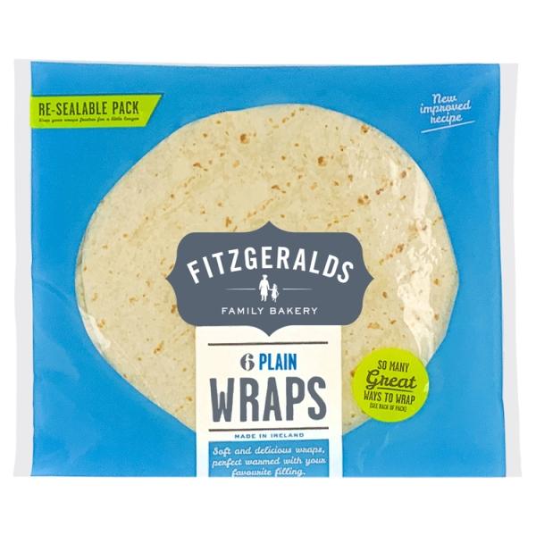 Fitzgeralds Plain Wraps 6 Pack