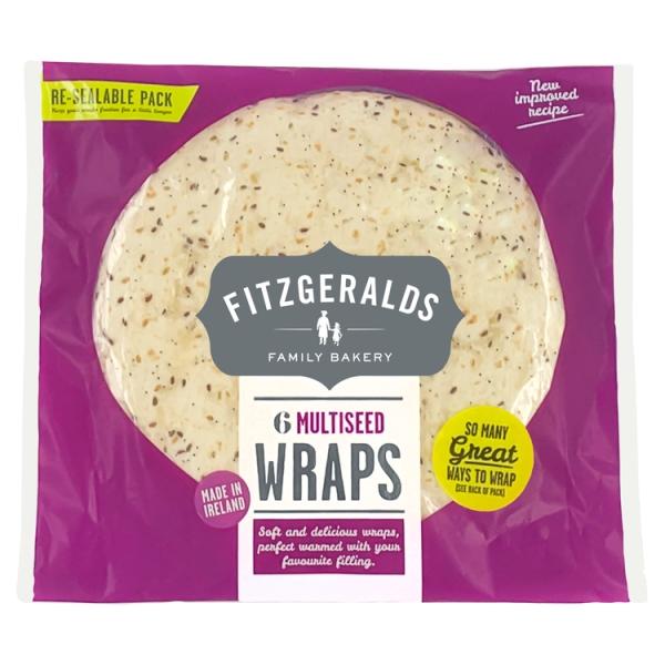 Fitzgeralds Multigrain Wraps 6 Pack