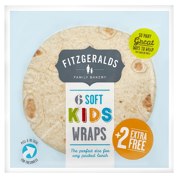 Fitzgeralds Soft Kids Wraps 8 Pack