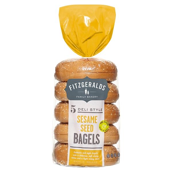 Fitzgeralds Sesame Bagels 5 Pack