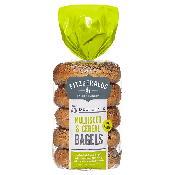 Fitzgeralds Multiseed and Cereal Bagels 5 Pack