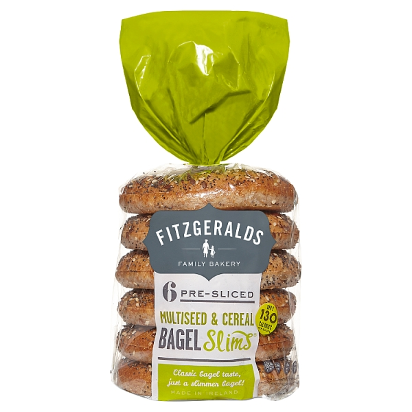 Fitzgeralds Multiseed and Cereal Bagel Slims 6 Pack