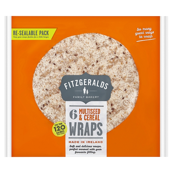 Fitzgeralds Multiseed and Cereal Wraps 6 Pack