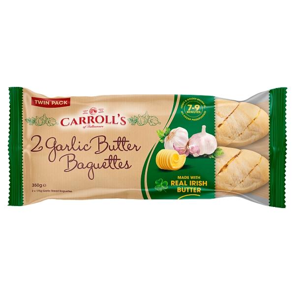Carroll's Twinpack Garlic Butter Baguette