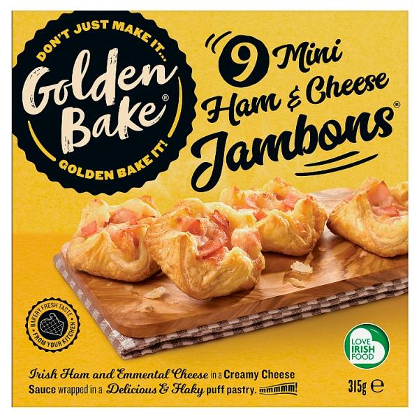 Golden Bake Mini Ham and Cheese Jambons 9 Pack