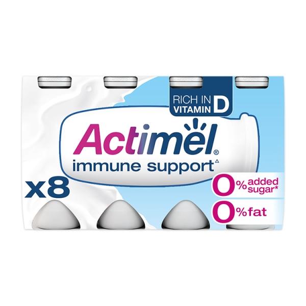 Danone Actimel 0% Original Yogurt Drink 8 Pack
