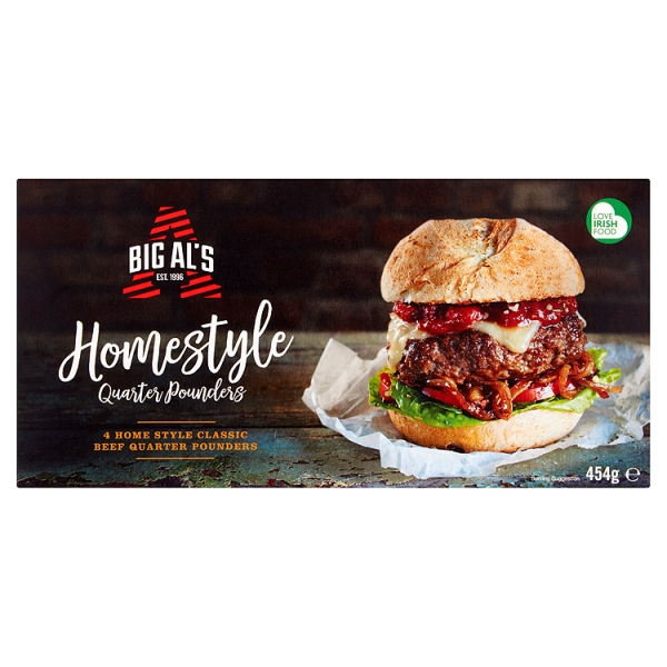 Big Als Homestyle Quarter Pounders 4 Pack 454 Grams