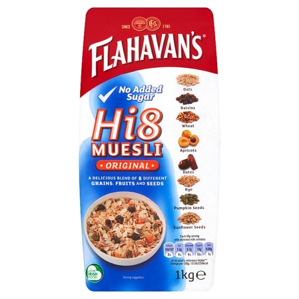Flahavan's Hi 8 Muesli No Added Sugar