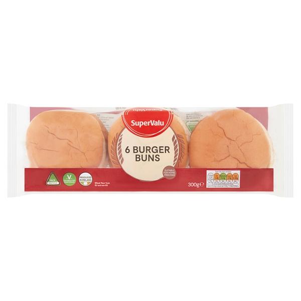 SuperValu Burger Buns 6 Pack