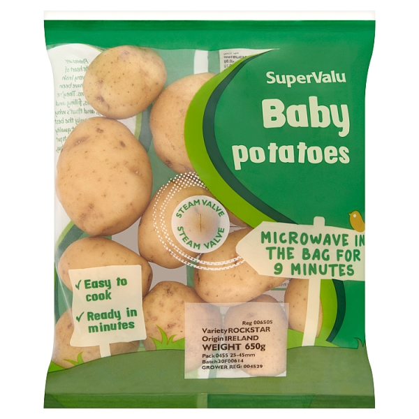 supervalu microwave baby potato bag 650 grams