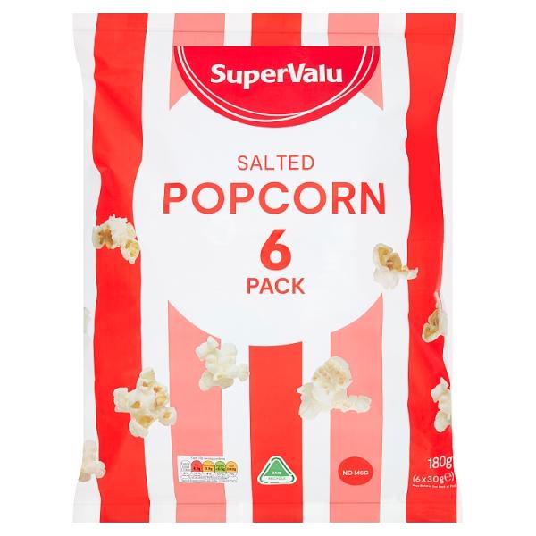 SuperValu Salted Popcorn 6 Pack