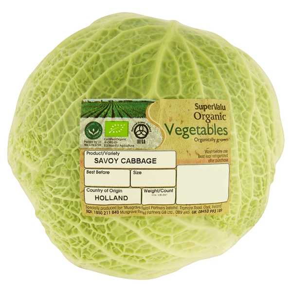 Supervalu Organic Cabbage 1 Piece