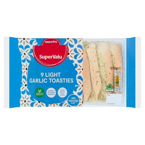 SuperValu Light Garlic Toasties Light 9 Pack