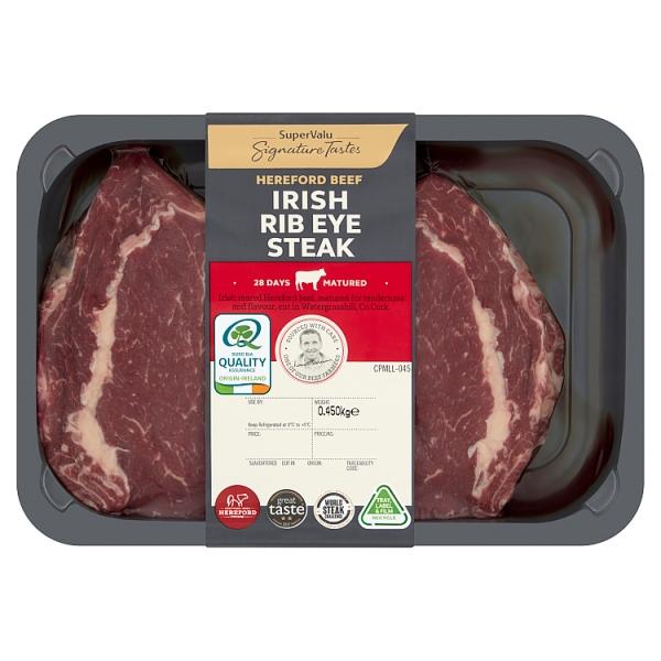 Signature Tastes Irish Hereford Beef Rib Eye Steak