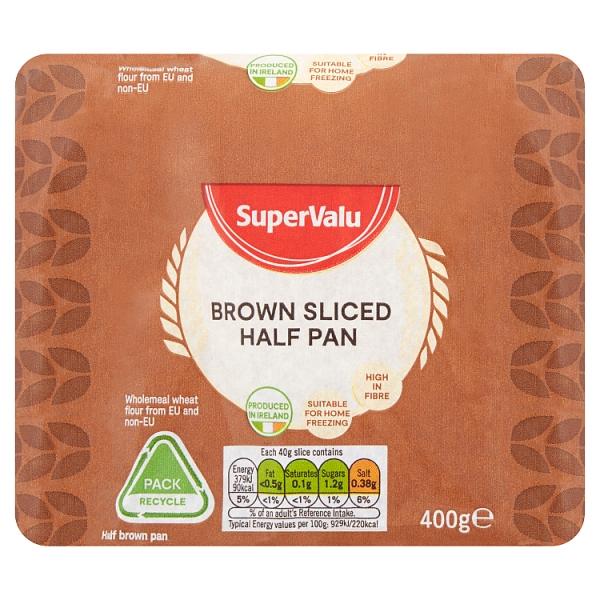 SuperValu Brown Sliced Half Pan