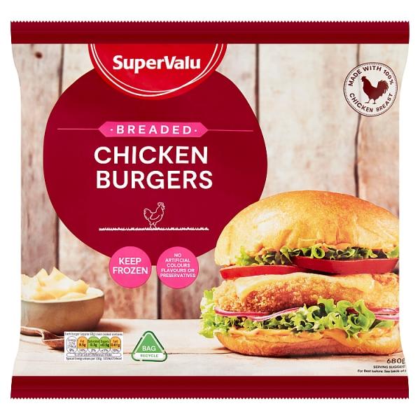 SuperValu Breaded Chicken Burgers 10 Pack